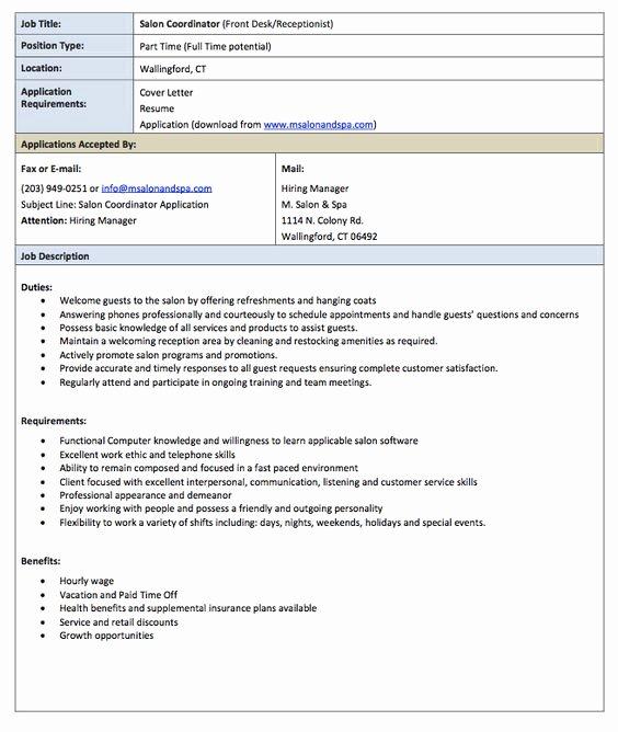 Receptionist Jobs Job Description and Receptionist On