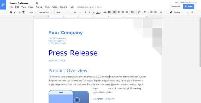 Recipe Book Template Google Docs
