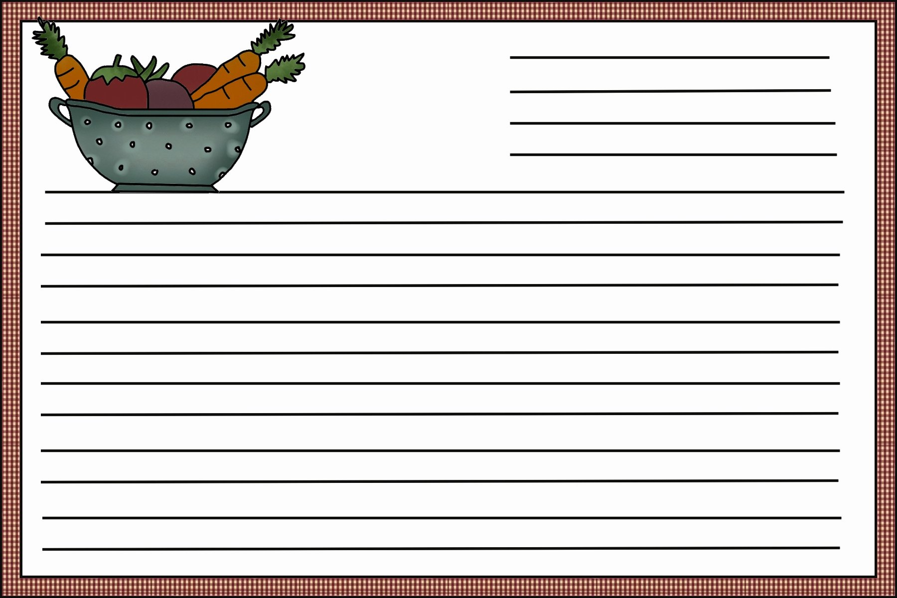 Recipe Card Template Beepmunk