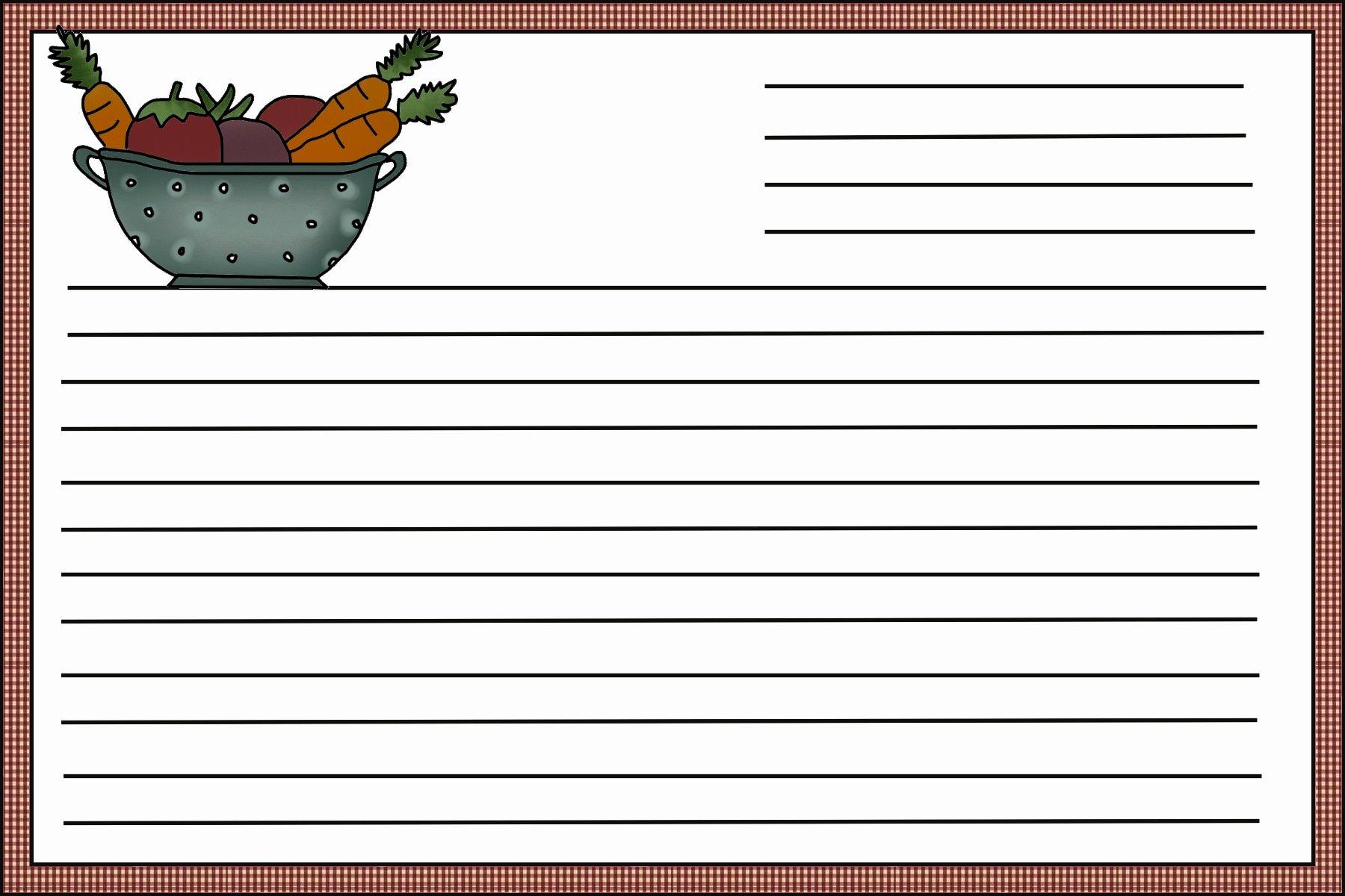 Recipe Card Template Beepmunk