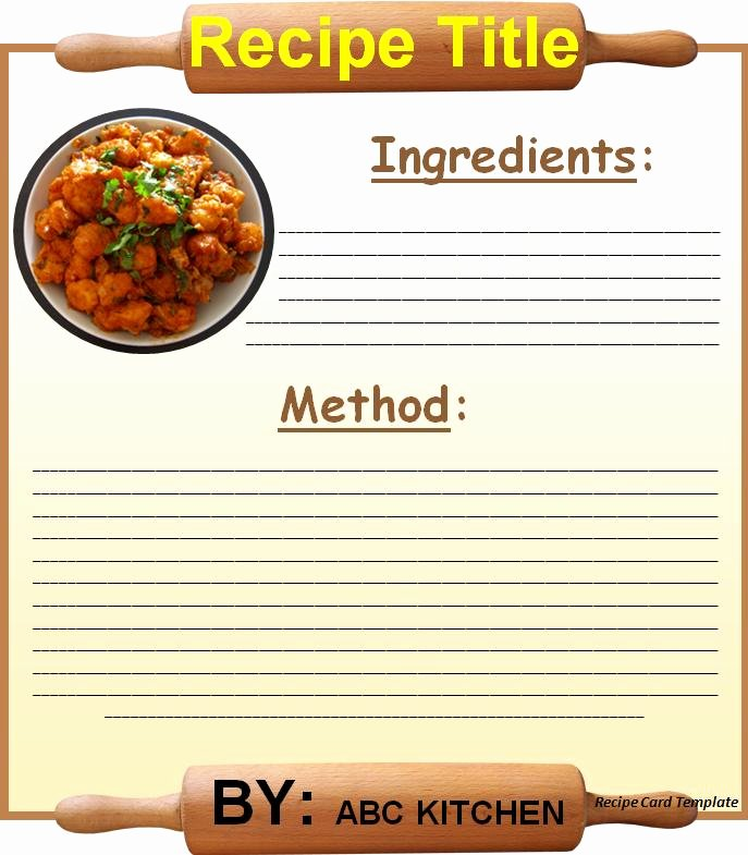 Recipe Card Template for Word Beepmunk