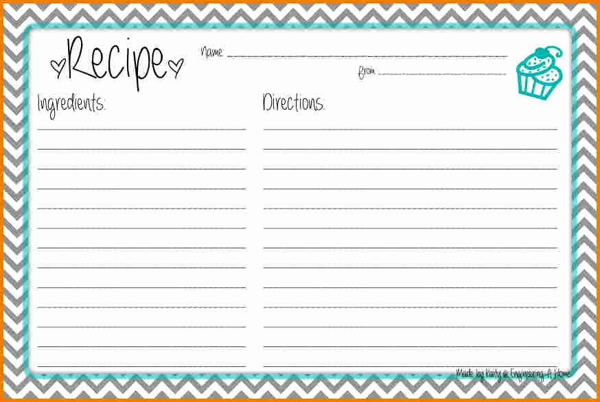 Recipe Card Template for Word