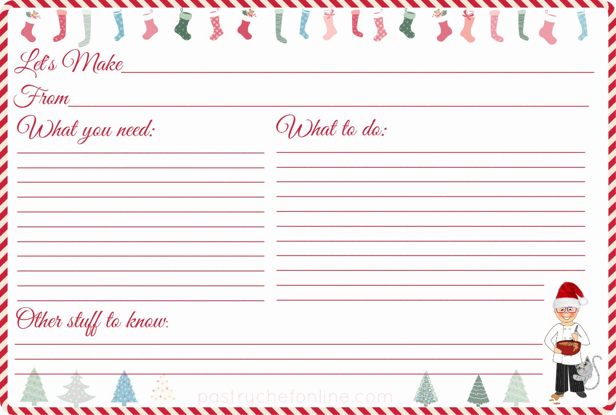Recipe Card Templates for Christmas – Fun for Christmas