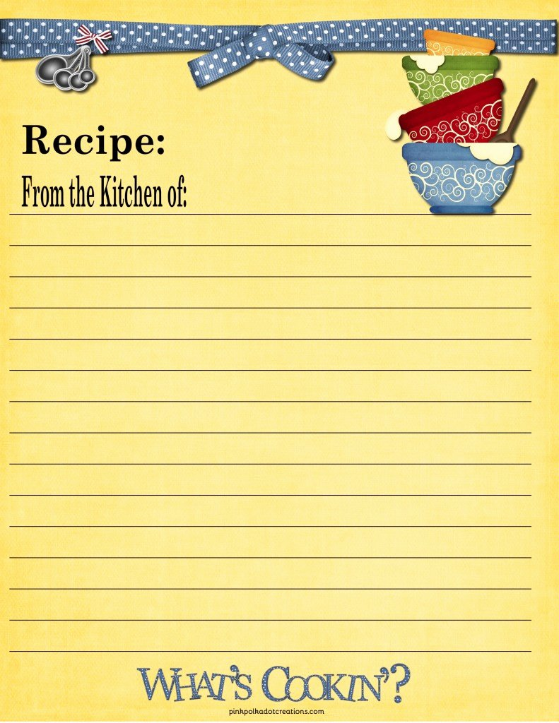 Recipe Cards Pink Polka Dot Creations