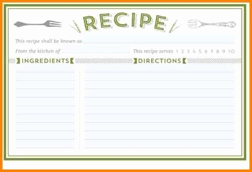 Recipe Templates Google Docs Recipe Template the Free
