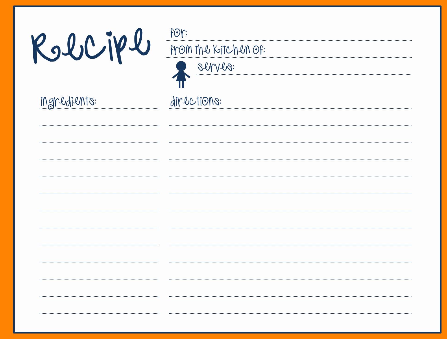 Recipe Word Template Fresh Microsoft Word Recipe Card