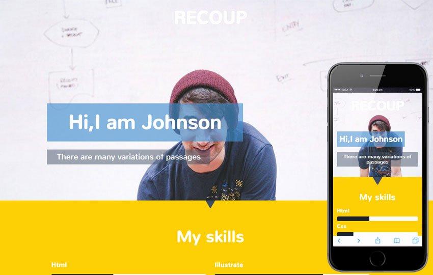 Recoup A Personal Portfolio Flat Bootstrap Responsive Web