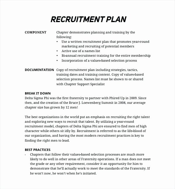 Recruitment Action Plan Template – Azserverfo