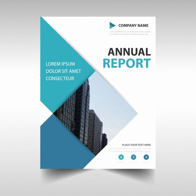 Rectangular Professional Annual Report Template Vector