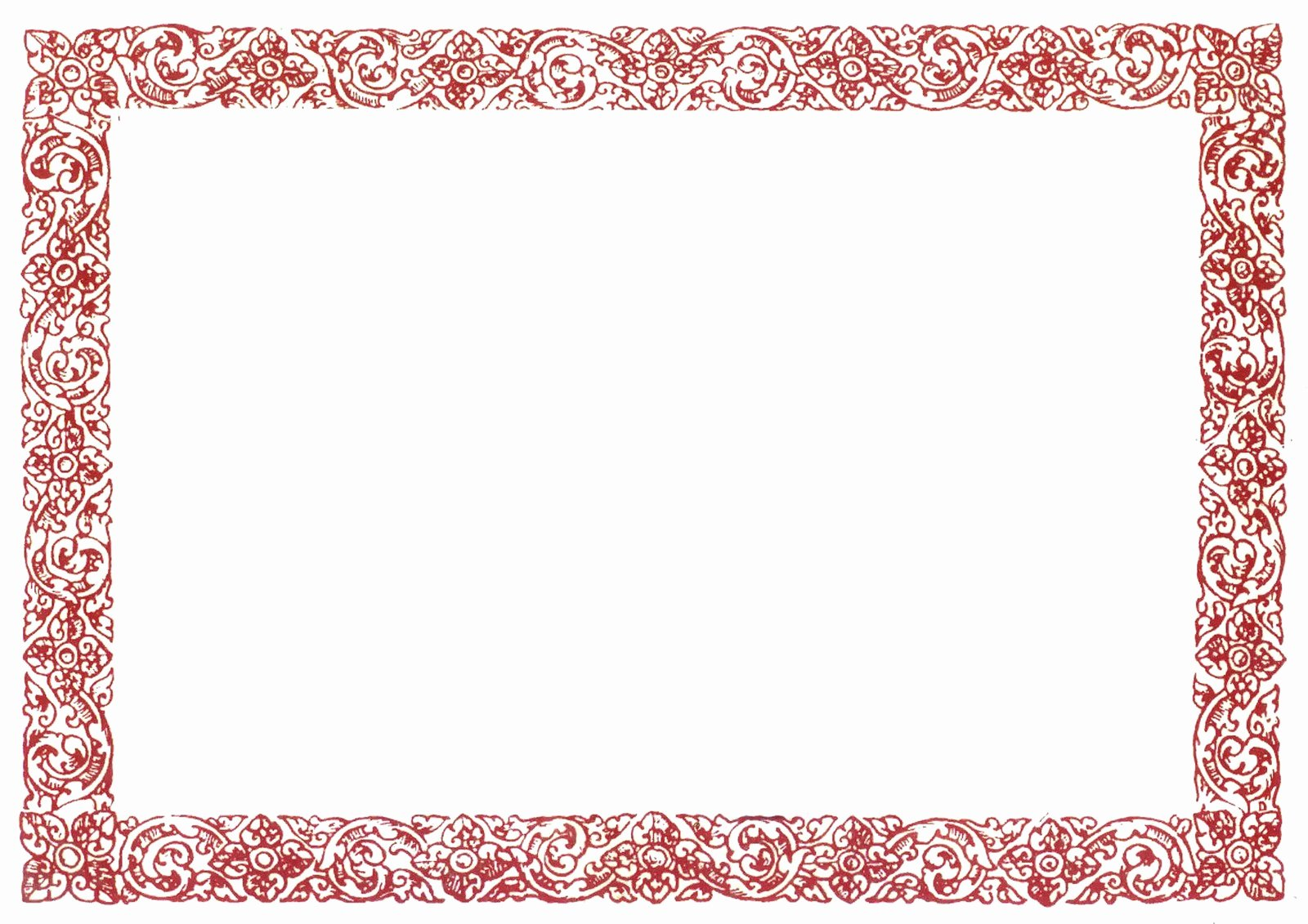 Red Border Certificate Templates