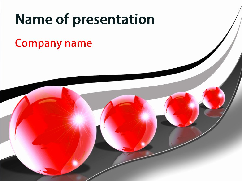 Red Bubbles Powerpoint Template for Impressive