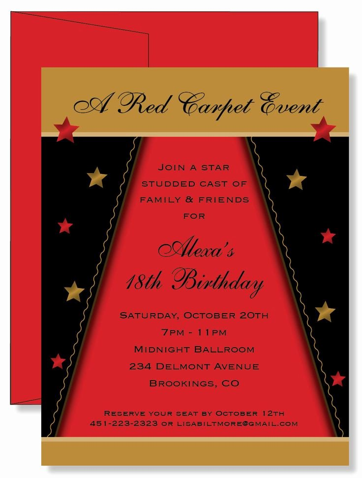 Red Carpet Invitations – Invitation Samples 2014