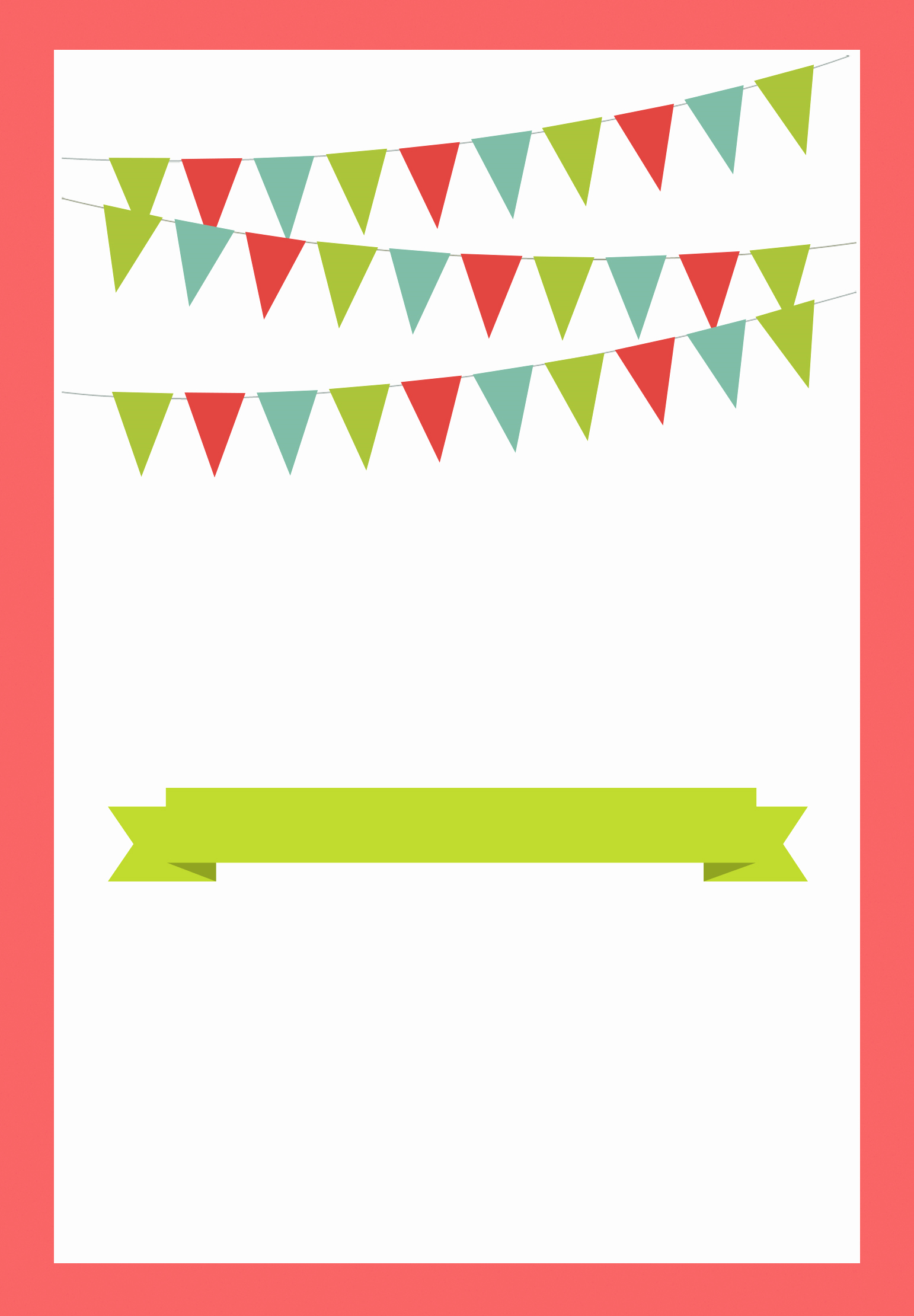 Red Pennants Free Printable Bbq Party Invitation