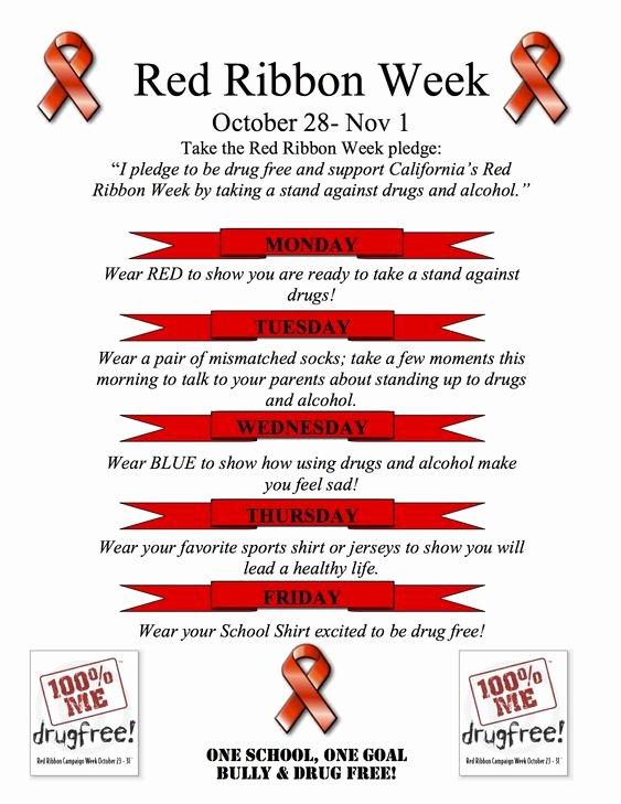 Red Ribbon Week Flyer Spirit Days Ideas