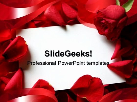 Red Roses Wedding Powerpoint Template 0610