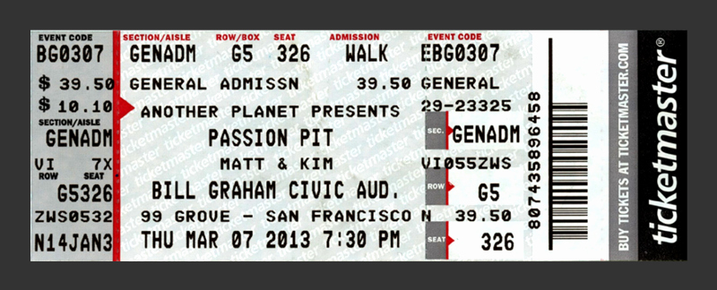 Redesigning Concert Tickets Creativepro
