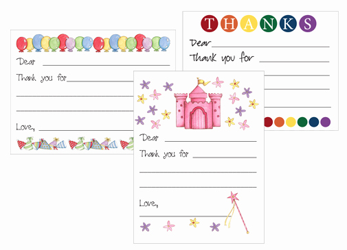 Redfly Creations Free Kids Thank You Card Templates