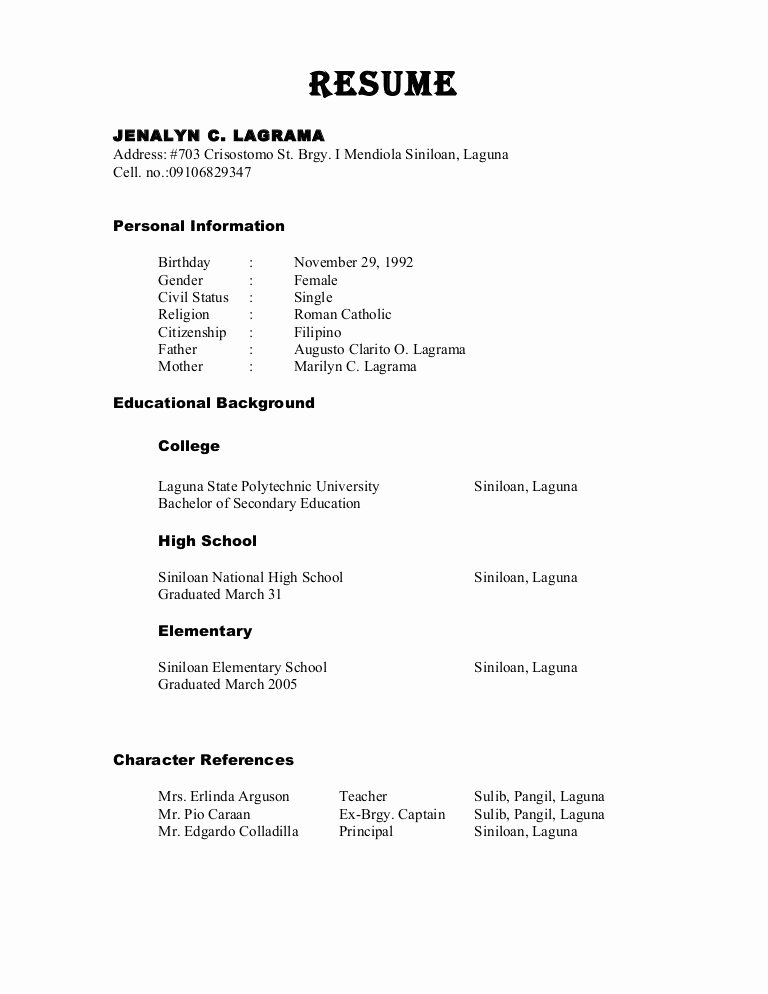 Reference In Resume Sample Best Resume Gallery