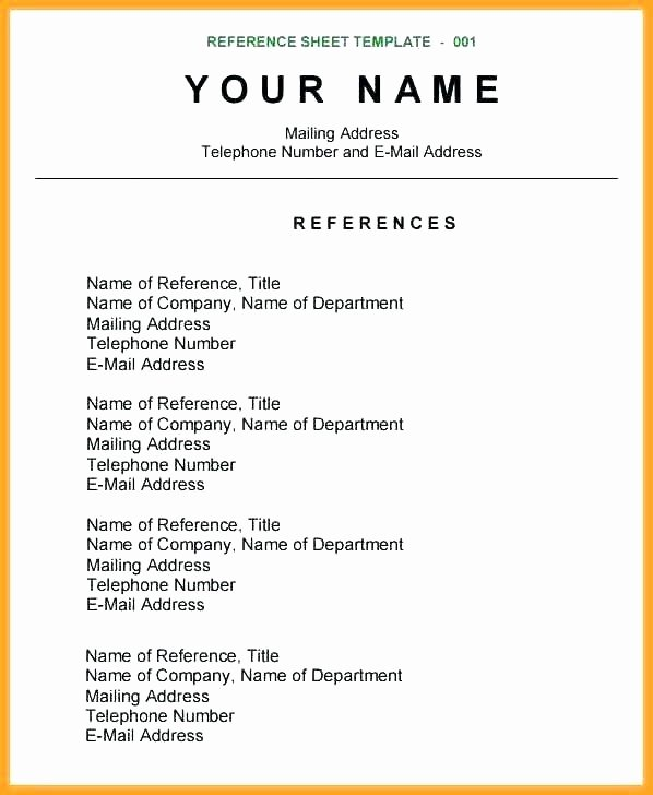 Reference Page Example