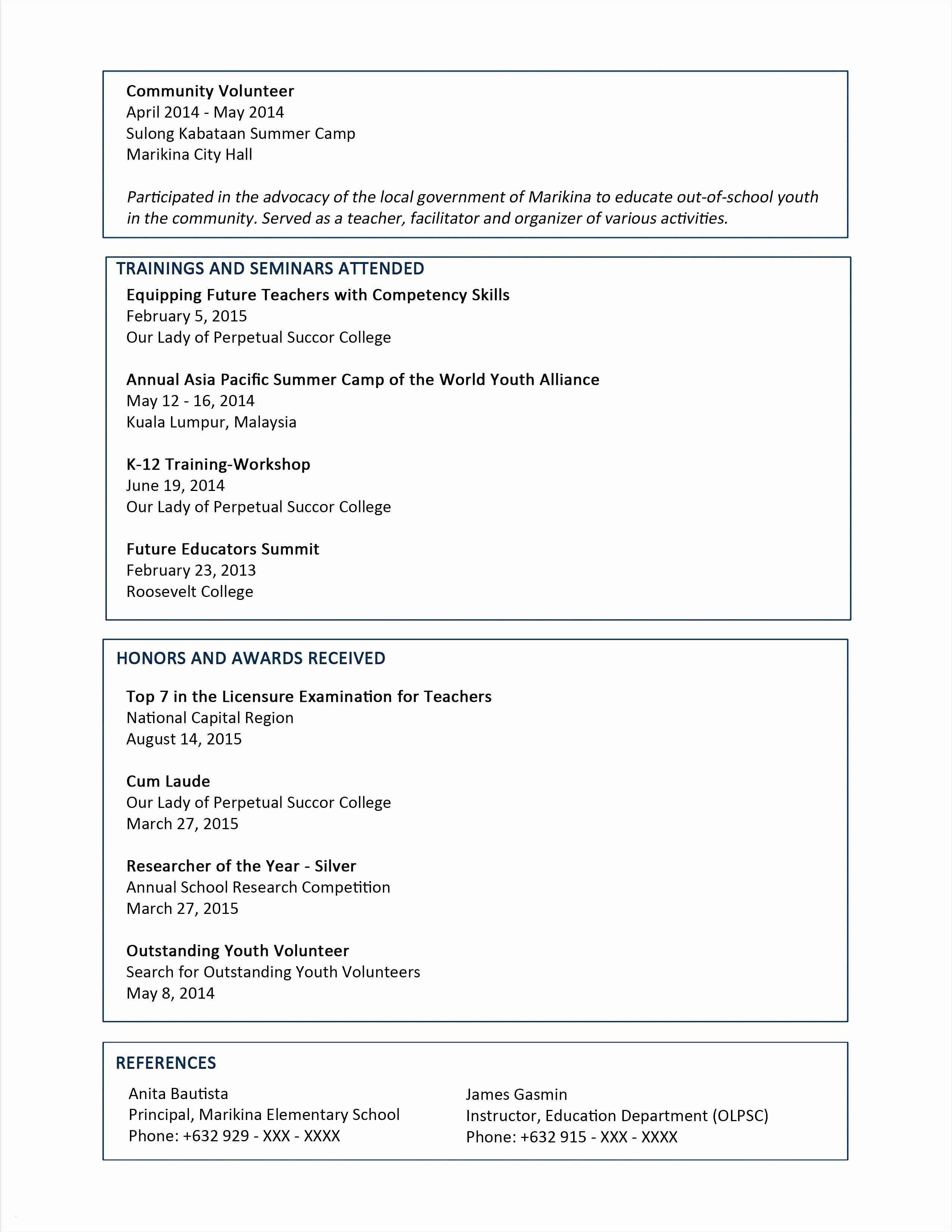 Reference Resume Templates Microsoft Word 2013