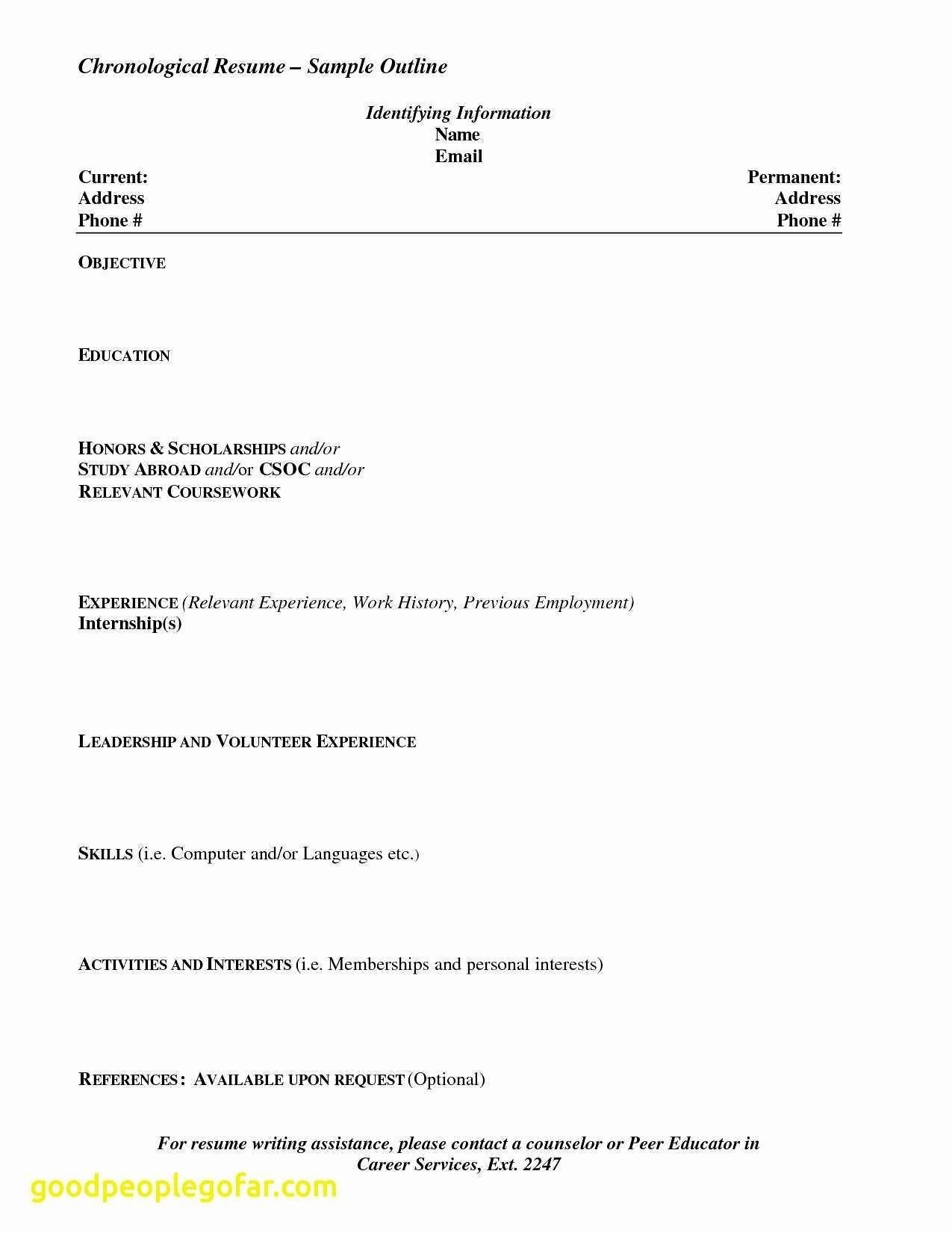 References Resume New Sample Resume for Recent High