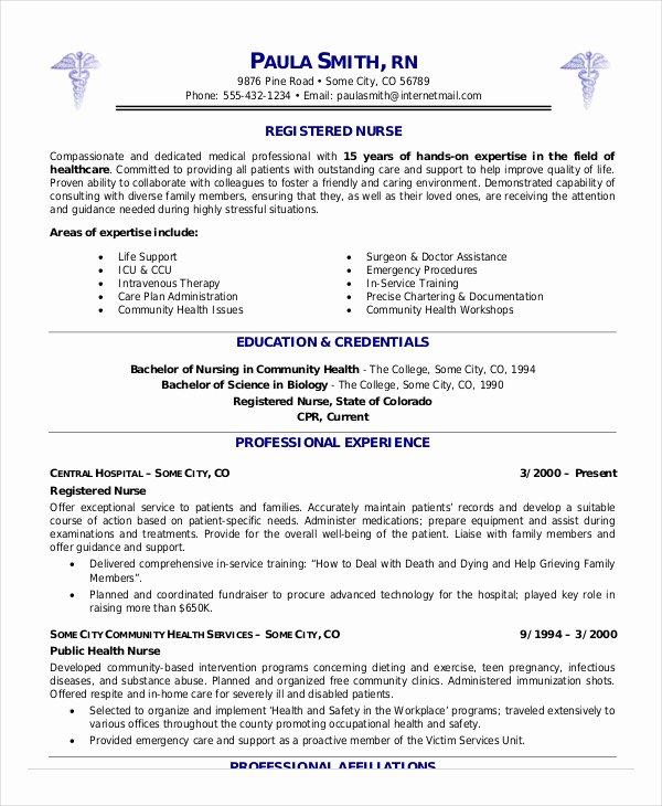 Registered Nurse Resume Example 7 Free Word Pdf