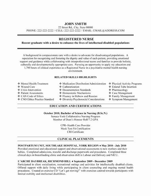 Registered Nurse Resume Sample & Template