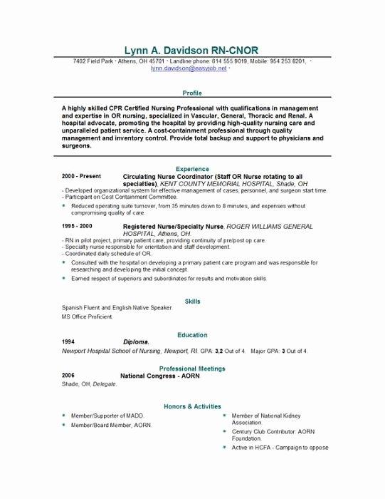 Registered Nurse Resume Sample Philippines
