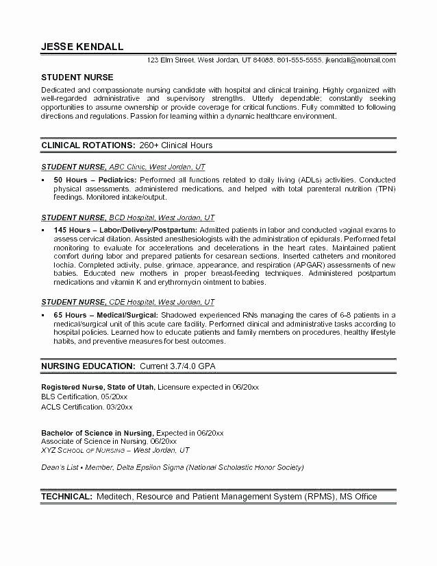 Registered Nurse Resume Template Word Templates Nursing