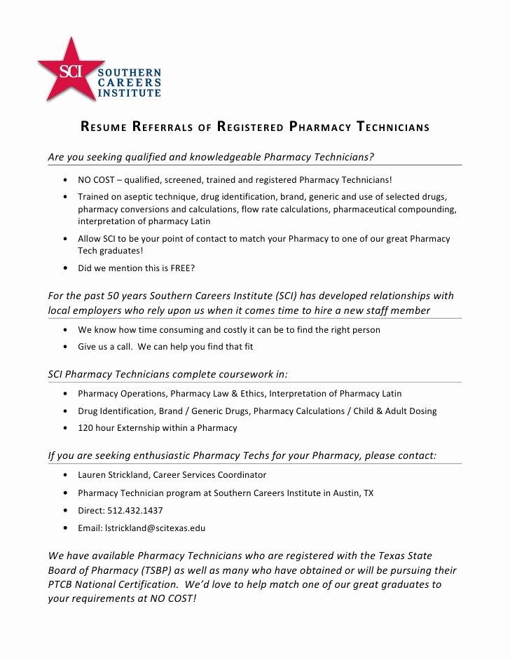 Registered Pharmacy Technician Resume