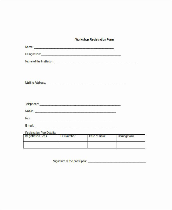 Registration form Template 9 Free Pdf Word Documents