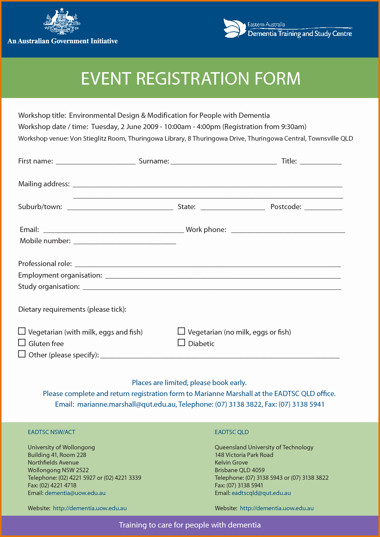 Registration form Template Wordreference Letters Words