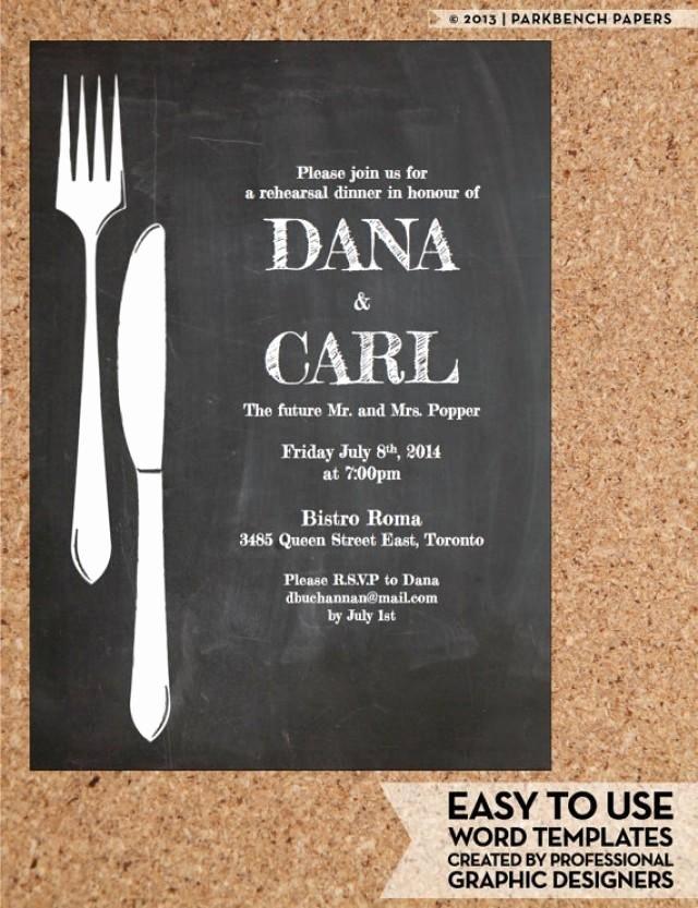 Rehearsal Dinner Invitation Chalkboard Chic Diy Word