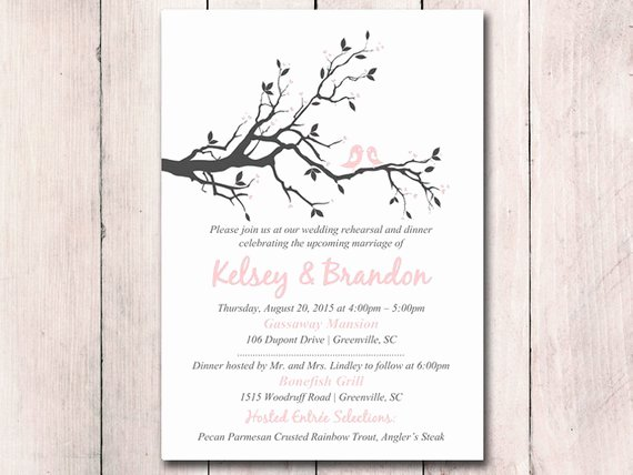 Rehearsal Dinner Invitation Template Printable Wedding