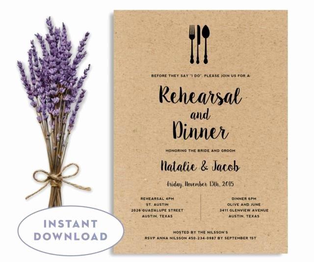 Rehearsal Dinner Invitation Template Wedding Rehearsal