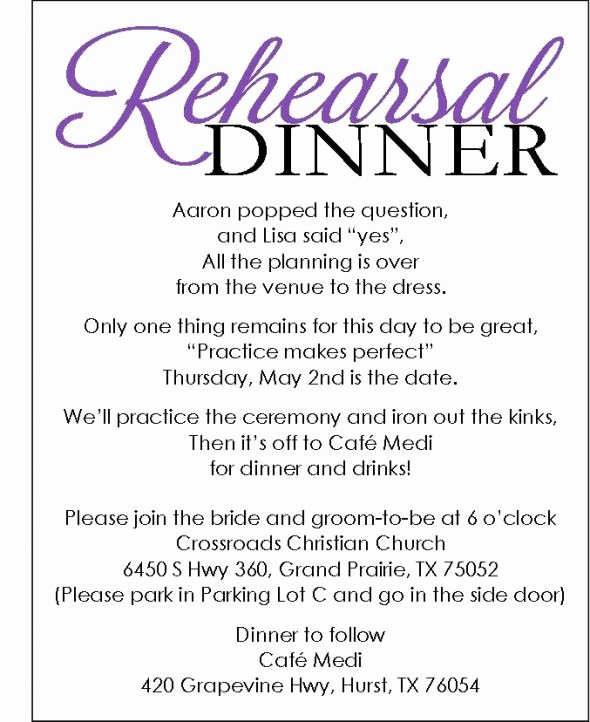 Rehearsal Dinner Invite with Template Available