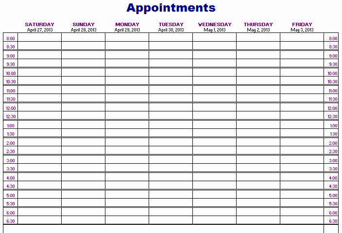 Related Keywords & Suggestions for Monthly Appointment