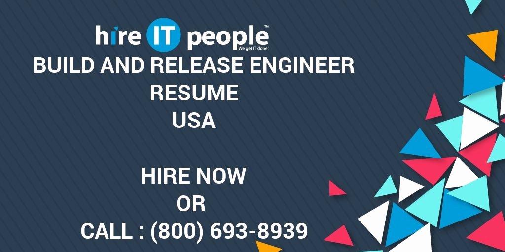 Release Engineer Resume Best Resume Gallery