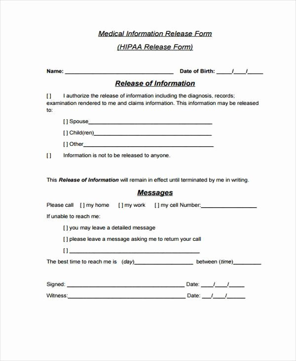 Release form Templates
