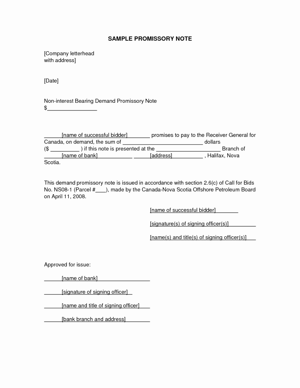 Remarkable Promissory Note Letter Example for Personal