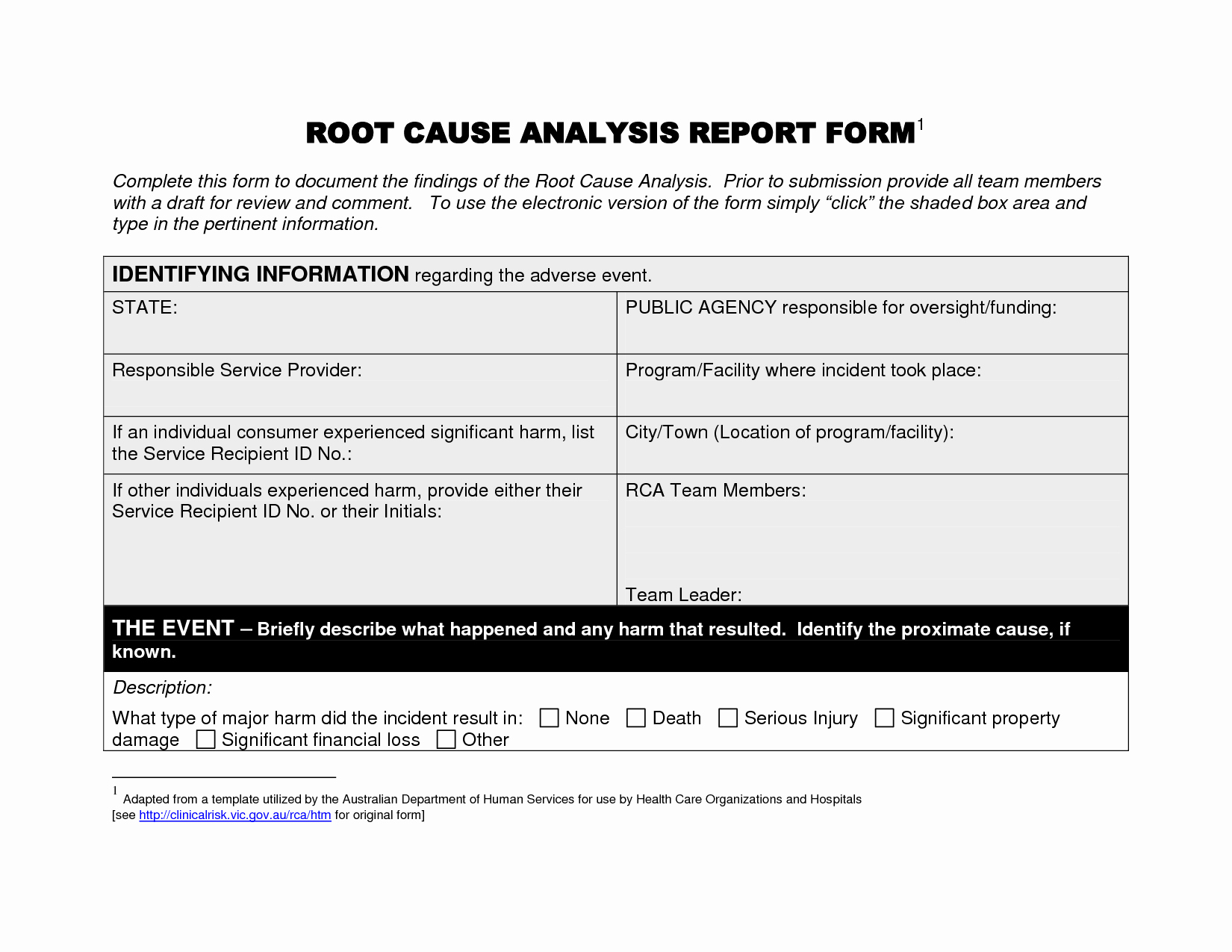 Remarkable Root Cause Analysis Report Template V M D