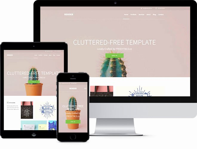 Render Free HTML5 Bootstrap Template