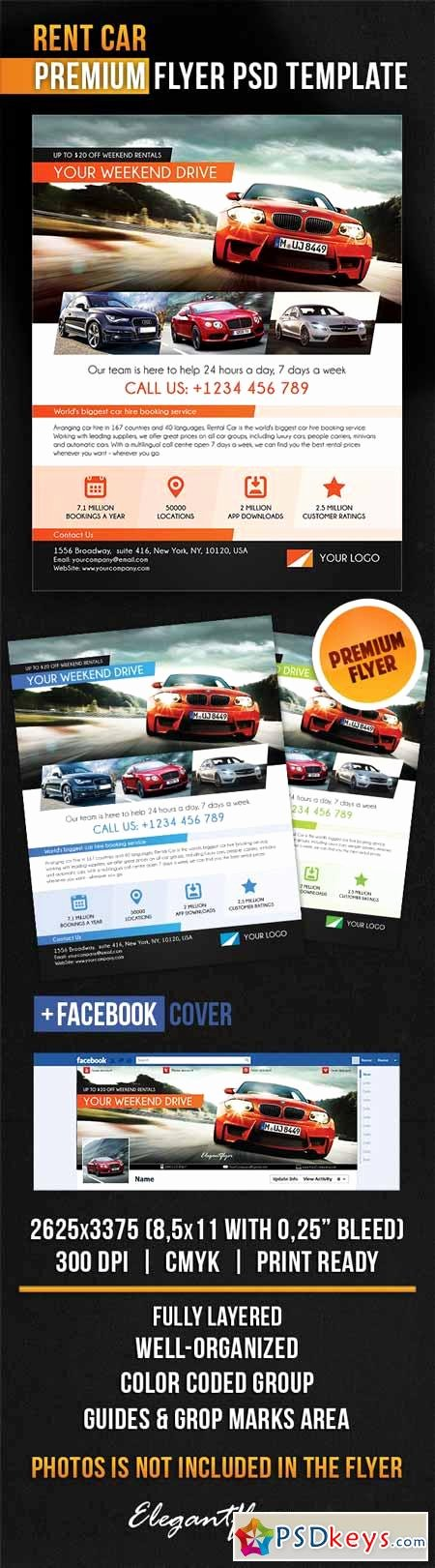Rent Car – Flyer Psd Template Cover Free
