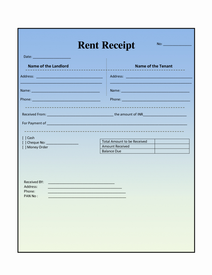 Rent Receipt Template Template Trakore Document Templates