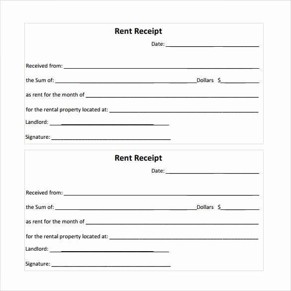 Rent Receipt Templates Find Word Templates