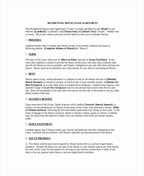 Rental Agreement Template 11 Free Word Pdf Documents