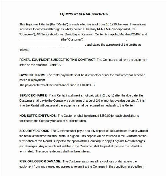 Rental Agreement Template – 20 Free Word Excel Pdf