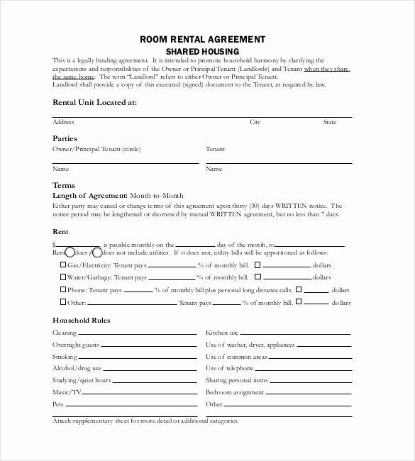 Rental Agreement Template – 20 Free Word Excel Pdf