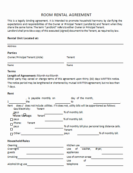 Rental Agreement Template 25 Templates to Write Perfect