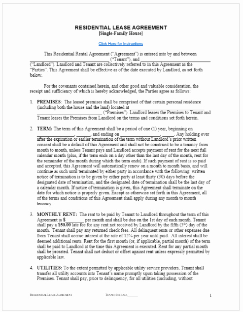 Rental Agreement Template Free top form Templates